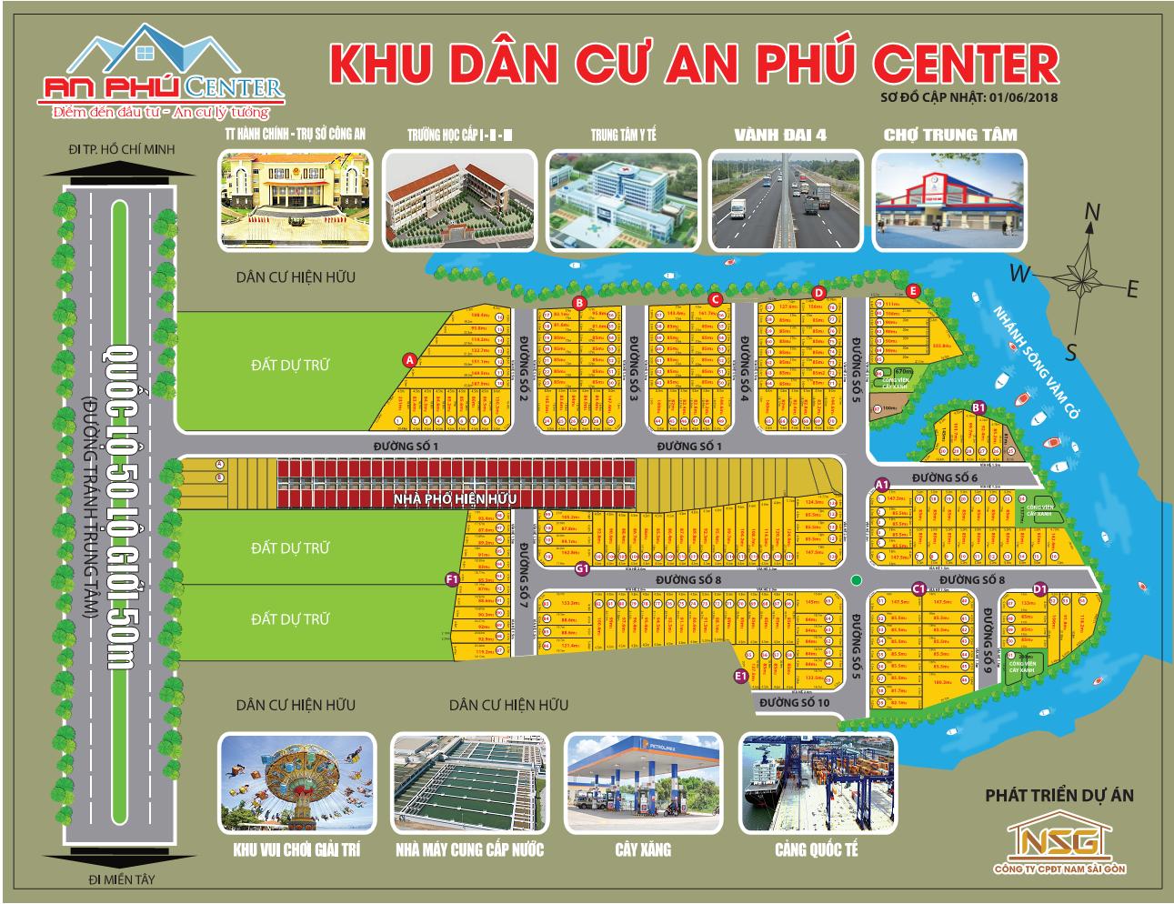 Sơ đồ phân lô dự án An Phú Center