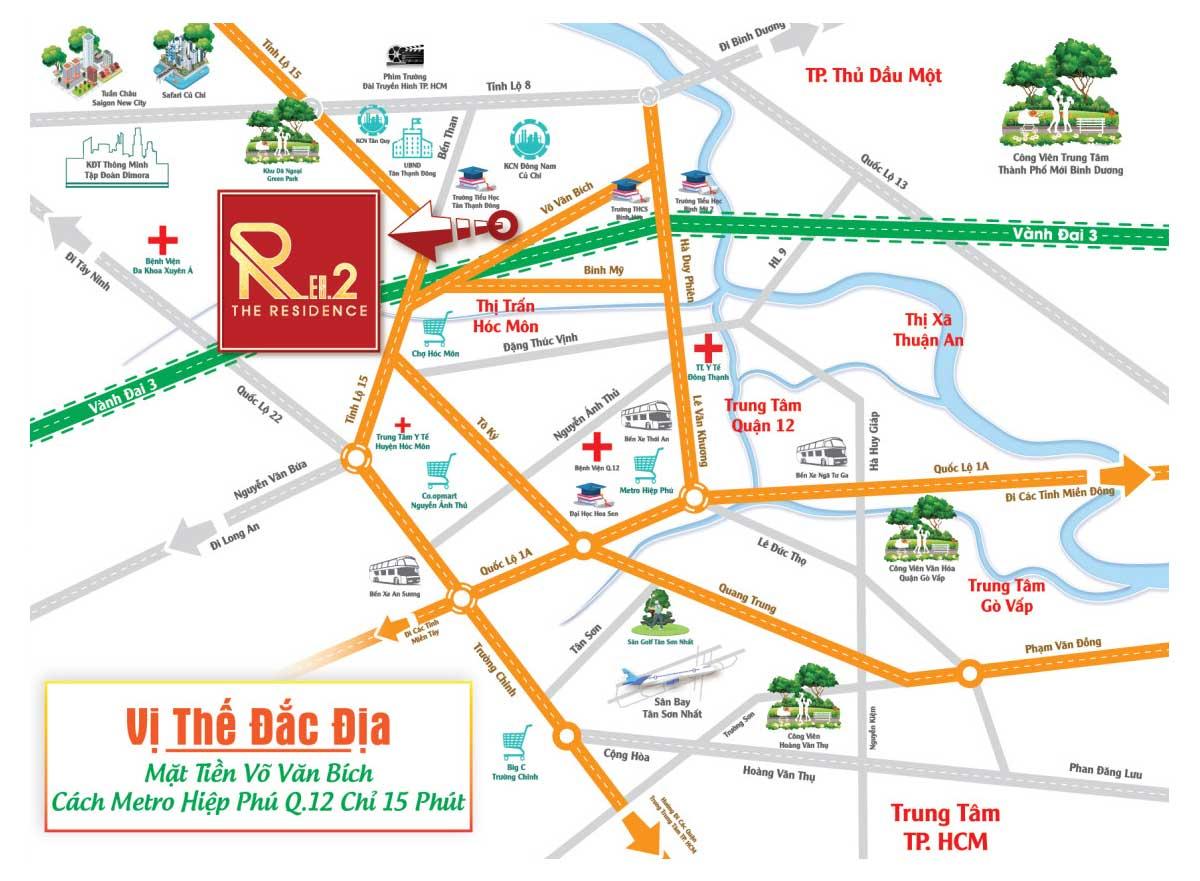 vị trí dự án the residence 2 - Đất dự án The Res 2