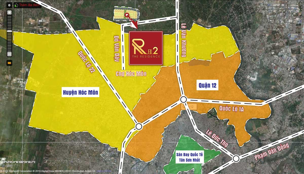 Vị trí dự án the res 2 - Đất củ chi