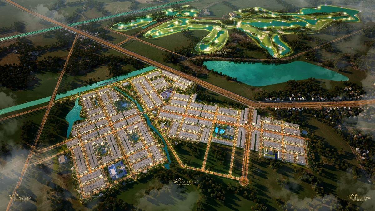 Phối cảnh tổng thể dự án đất nền đối diện sân golf Long An