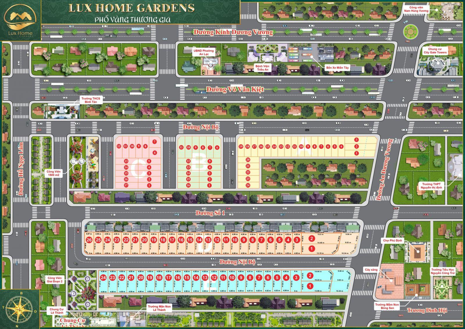 bản đồ phân nền Lux Home Garden